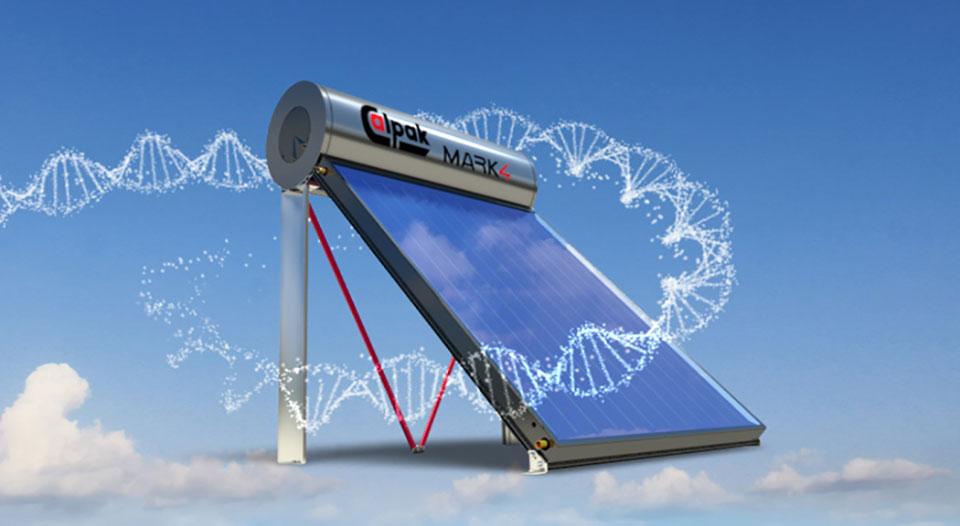 Ηλιακός θερμοσίφωνας Calpak Mark 4