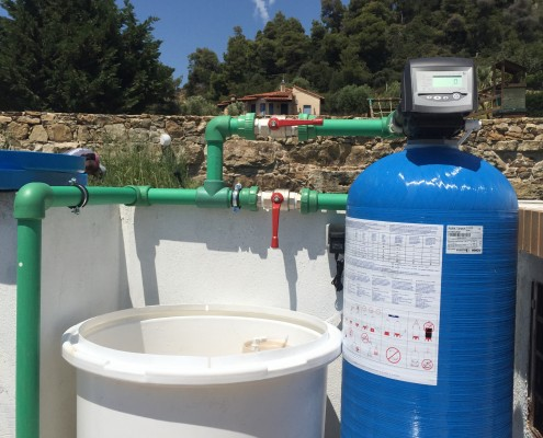 Nefeli Luxury Villas- Saving with water processing systems